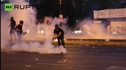 Greek Debt Deal Protesters Pelt Police with Molotov Cocktails