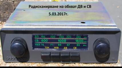 Радиоскан в обхвати дълги и средни вълни /2017г/