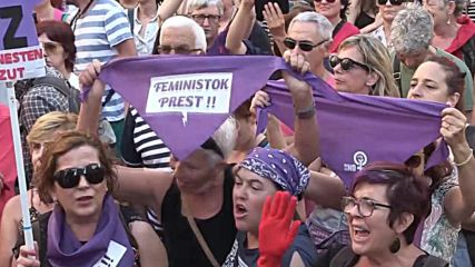 Spain: Thousands in Pamplona rally against 'wolf pack' rape sentences