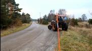 Луд дрифт с трактор