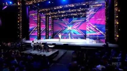 Мъжът булка , имитатор на Лейди Гага в X Factor Usa