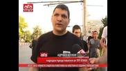 Атакисти защитиха паметника на апостола от содомисткото шествие, 05.07.2014г