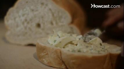 Как да направите яйчена салата (салата от яйца)