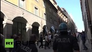 Italy: Police clash with protesters as Renzi visits L'Aquila