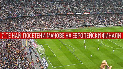 Седемте най-посещавани финали на европейско първенство