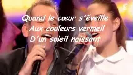 /превод/ La belle et la bete - Garou& Camille Lou