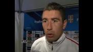 Srbija - Italija 1-1 Aleksandar Kolarov posle meca 05.10.2011.