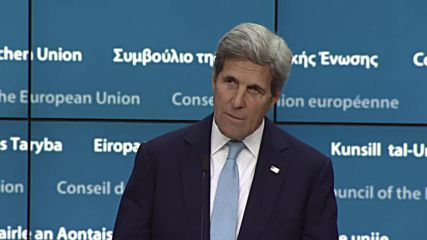 Belgium: USA 'stands squarely' with Turkish leadership, says Kerry