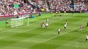 Уест Хем - Манчестър Юнайтед 2:0 /първо полувреме/