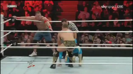 Sin Cara & John Cena vs The Miz & Alex Riley [raw 4_18_11]