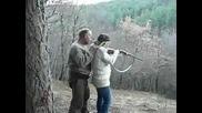 Жена Стреля С Пушка
