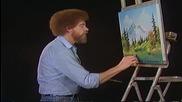 S02 Радостта на живописта с Bob Ross E01 - планинско езеро ღобучение в рисуване, живописღ