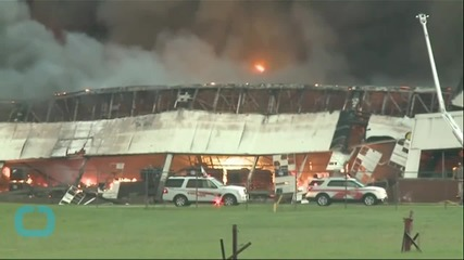Massive Fire Burns at Louisville Manufacturing Facility
