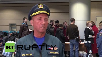 Russia: EMERCOM plane carries Russian nationals to safety from Syria