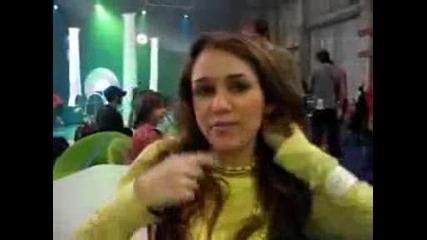 Miley acting crazy