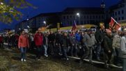 Germany: Hundreds of Pegida supporters celebrate AfD result on streets of Dresden