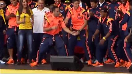 Колумбийските национали демонстрираха танцувални умения