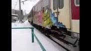 Пв 70103 Видин - София преминава през надлеза преди гара Враца