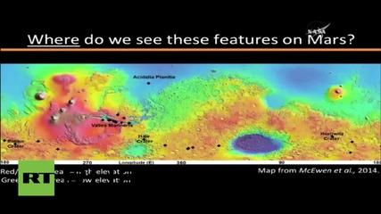 НАСА: На Марс има течаща вода