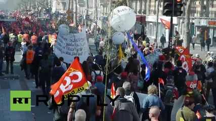 France: Unions shutdown Paris as thousands take to the streets
