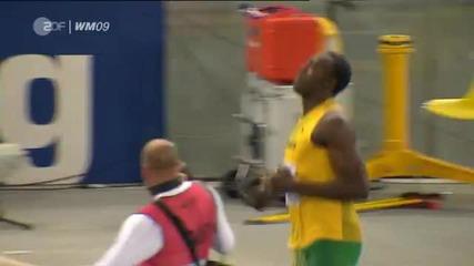 Най - бързият спринт в света до момента на 100m - Usain Bolt 9.58