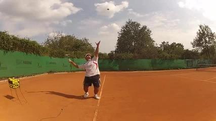 Тенис урок - Сервис (на български език)
