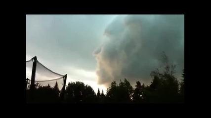 Облак във формата на човешко лице