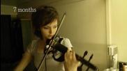 Младо момиче записва своя прогрес в свиренето на цигулка в продължение на 2 години!
