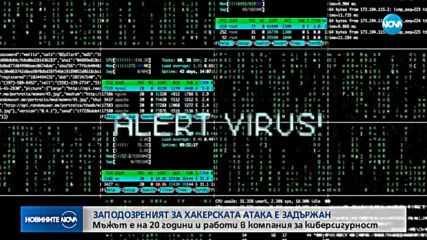 Заподозреният за хакерската атака е задържан