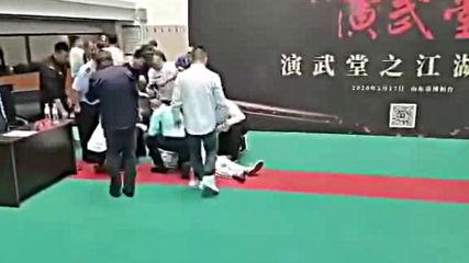 Тай Чи майстор препариран за 30 секунди от трениращ ММА