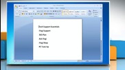 Microsoft® Word 2007: How to use headings and styles on Windows® 7?