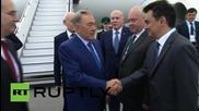 Russia: Kazakhstan President Nazarbayev arrives in Ufa for SCO summit