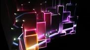 3d проектиране на гама от светлини, върху 3d повърхност. Красота