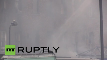 UK: One injured in blaze on busy east London high street