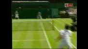 Wimbledon - Federer - Hrbaty - 0:1 Трети Сет!