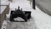 Как да почистим снега от улицата от компютърът си !!!