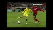 """""""Борусия"""" (Д) излезе на второ място в Бундеслигата след 3:2 над """"Байер"""" (Л)"""