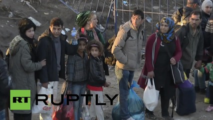 Serbia: Refugees scuffle in Berkasovo as they try to cross into Croatia