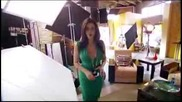 Maite Perroni Behind-the-scenes at her Proactiv Commercial Shoot