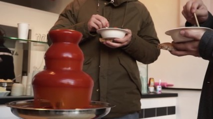 Germany: This currywurst FONDUE fountain is either the best thing ever… or the wurst