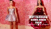 Nina Dobrev & Jourdan Dunn wore 3D printed gowns to the Met
