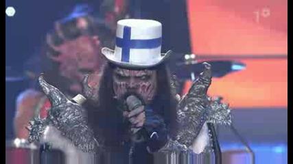 lordi - hard rock hallelujah (finland at esc final) - xvid - 2006 - mv