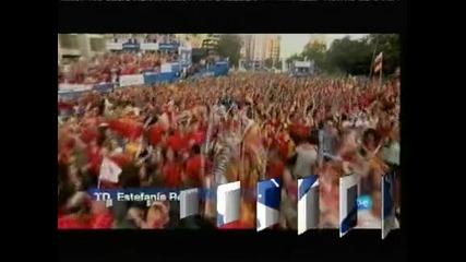 Испания полудя след спечелването на европейската титла по футбол