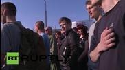 Poland: Anti-Kiev patriots protest outside Ukraine's Consulate General