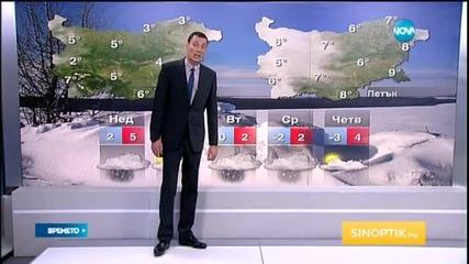 Прогноза за времето (25.01.2015 - обедна)