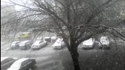 Сняг заваля в Самоков