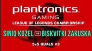 Siniq Kozel vs Biskvitki Zakuska - Plantronics LoL Championship #3