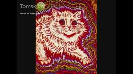 Рисунки на котки преди и по време на шизофрения - Луис Уейн