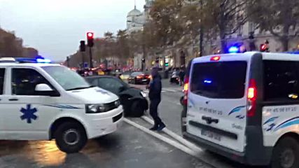 France: Ambulances blockade Champs-Elysees over transport reforms