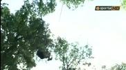 Левскарите се забавляват с катерене във Виена